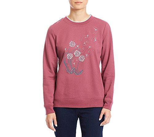 Breckenridge Petites' Dandelion Graphic Crewneck Sweatshirt Petite Medium