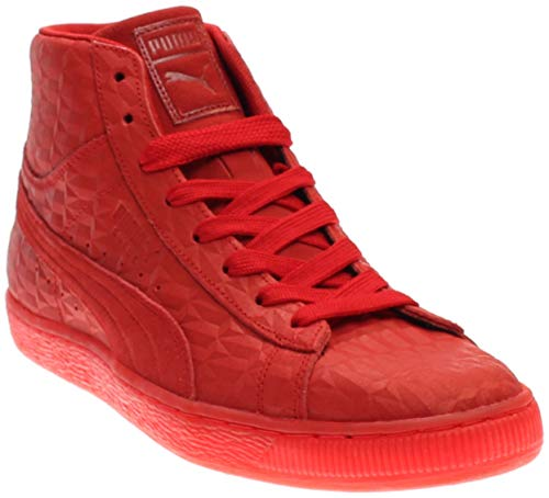 PUMA Mens Suede Mid Me Iced Casual Sneakers, Red, 6