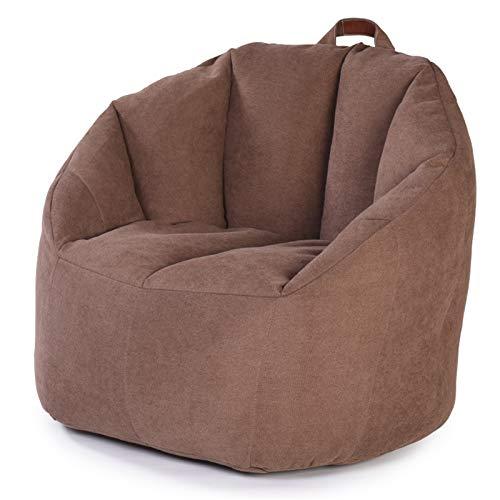 JTRHD Klassischer Sitzsack Große Bohnsack Stuhl Sofa Couch Liege High Back Bohn Bag Sessel Stuhl für Erwachsene Außen und Innen (Farbe : Braun, Size : One Size)