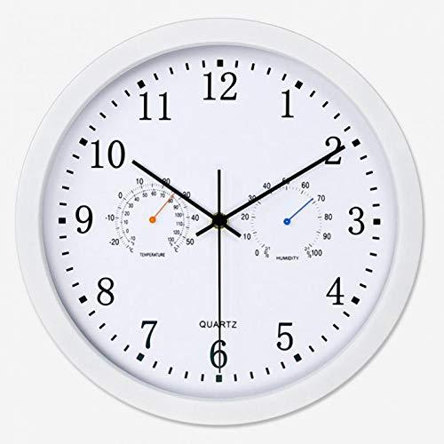TOLYZ Decoración de Arte Reloj de Pared Termómetro Higrómetro HogarCuarzo silencioso Sin tictac Movimiento de Barrido Analógico de Interior