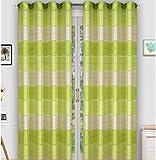 Tenda a occhiello semitrasparente Sciarpa a occhiello Sciarpa Sciarpa decorativa per finestra Tenda decorativi a colori strisce Balcone di 2 tende con occhielli 145x245 cm AGV V7