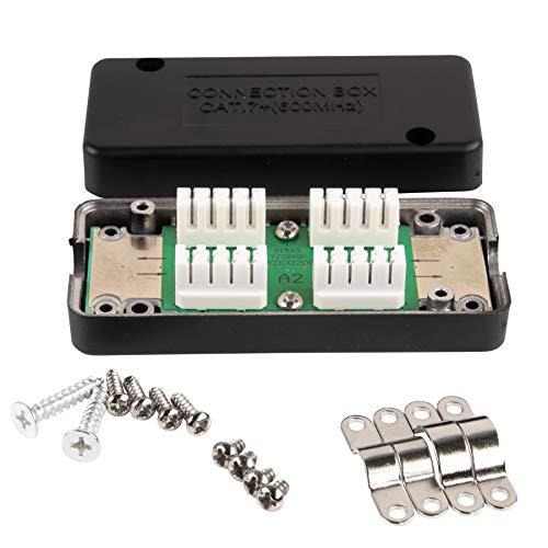 BIGtec CAT.7 LSA Verbinder Connection Box für Verlegekabel Netzwerkkabel Verbindungsmodul Verbindungsstück für Kabel CAT.5 CAT.6 CAT.7, geschirmtes Gehäuse, verbindet verlängert Installationskabel