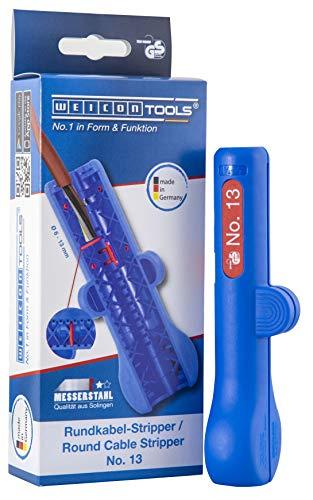 WEICON TOOLS Rundkabel-Stripper No. 13 – Entmanteler für Rund- und Feuchtraumkabel von 6 - 13 mm Ø