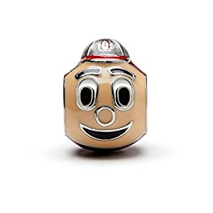 Ohio State University Charm | OSU Buckeyes – 3-D Brutus Buckeye Bead | Officially Licensed Ohio State University Jewelry | OSU Charms | OSU Brutus | OSU Gifts | Stainless Steel