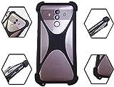 Universal Smart Phone Bumper Case for Unimax UMX U683CL U504TL Elastic Silicone Cover for Samsung Galaxy Huawei Xiaomi LG HTC Nokia Blu Vivo Google Phones Size 4'' to 6.5'' inch Case (Black)