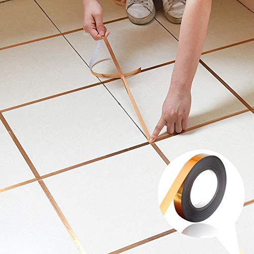 Gold Boden Fugen Fliesen Aufkleber wasserdicht Wand Aufkleber wall line sticker-Ideal zum Basteln und Designen