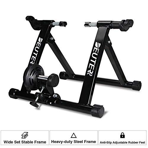 Draagbare magnetische turbo fietstrainer standaard stalen fietsoefening, ondersteunt 350 pond indoor fietstrainer standaard, echt weggevoel