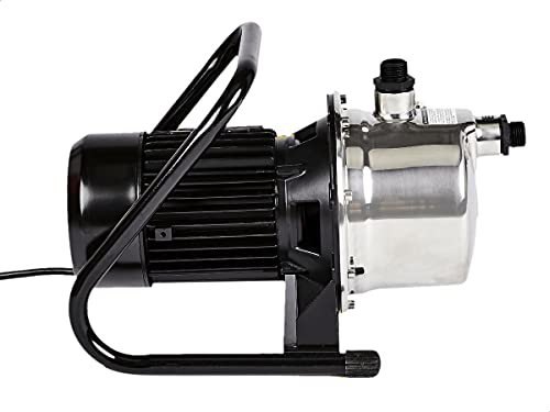 AmazonCommercial 1 HP Portable Lawn Sprinkler Pump, Stainless Steel