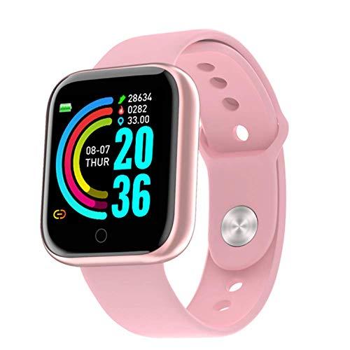 Y68 Bluetooth-Smartwatch für Männer und Frauen, Herzfrequenz, Blutdruckmessgerät, Fitness-Tracker, Smart-Armband für Apple iOS Android