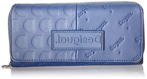 Desigual Accessories PU Long Wallet, Largo Walet. para Mujer, Azul, U