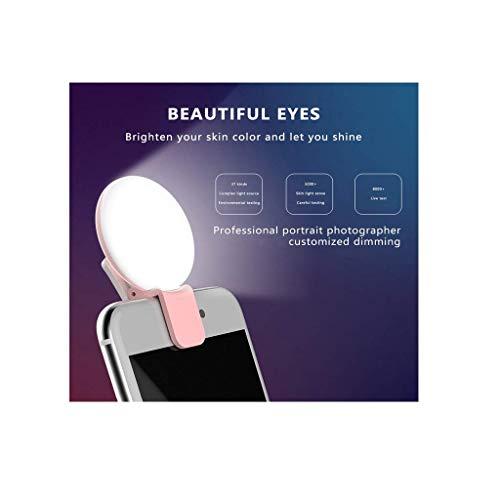 AJH Torche de lumière Selfie: téléphone Portable Flash LED Spotlight Ring Remplissage éclairage Ampoule Pocket Ampoule Lampe de caméra pour Photos/vidéo en