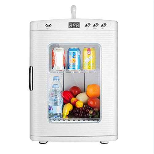 ZUQIEE 25L eléctrico Frigorífico de Coches, portátil Mini Nevera con frío y Caliente Funcionalidad, Eco Modo de Ahorro - AC & DC refrigerador del Coche (Color, tamaño: 34.5 * 38 * 49cm)