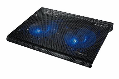 Trust Azul Base di Raffreddamento per Laptop, con 2 Ventole Illuminate in Blu