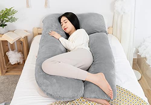AngQi 抱き枕 だきまくら 妊婦 妊娠 男女兼用 U型 7型 I型 3in1 セパレート型 マタニティ 妊婦枕 クッション 授乳 横向き寝 うつぶせ寝 快眠グッズ カバー洗える グレー