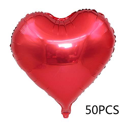 Loriver Herz Liebe Helium Luftballons Hochzeitsfeier Deko Valentinstag Luftballons Mode