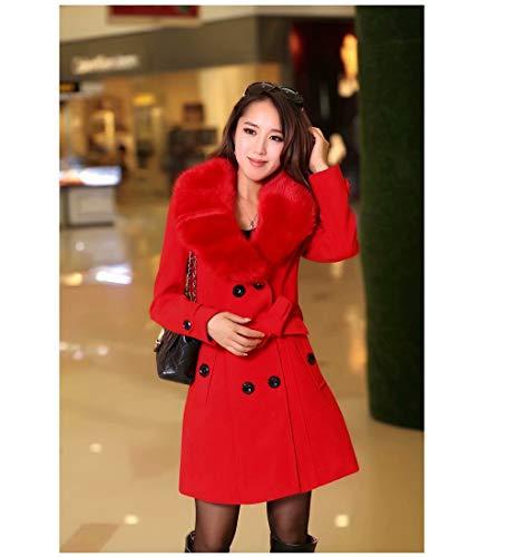 MILASIA wollen winterjas voor vrouwen in trui jas met lange mouwen overjas