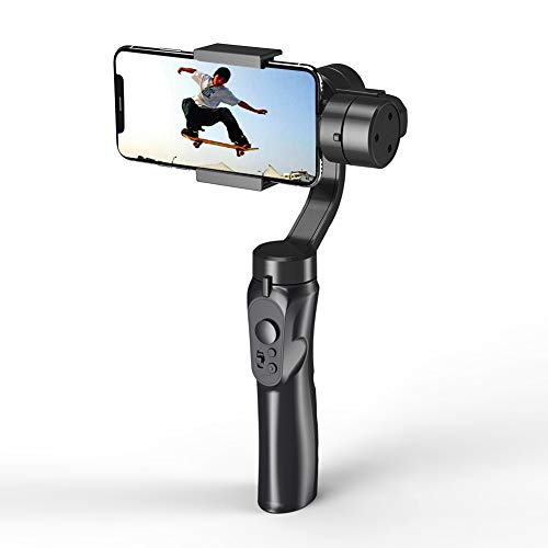 KOET Handheld Gimbal Stabilizer Youtube Video Vlog Tripod para iPhone 11 Pro XS MAX XR X 8 Plus 7 6 SE Android Smartphone Samsung Galaxy Note10 S10 S9 S8 S7 Q2-291 * 120 * 50 mm