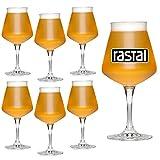 Rastal - n° 6 Bicchieri Mini TEKU 33 - capacità: 33 cl - Calice Universale Degustazione Birra Artigianale -