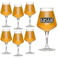 Boîte de 6 verres - MINI TEKU 33 cl. Diamètre: 88 mm. Hauteur: 186 mm. Matériel: Superstrong cristallin version MINI de TEKU calice pour la dégustation des bières artisanales conçues par TEO MUSSO & Kuaska Made in Italy