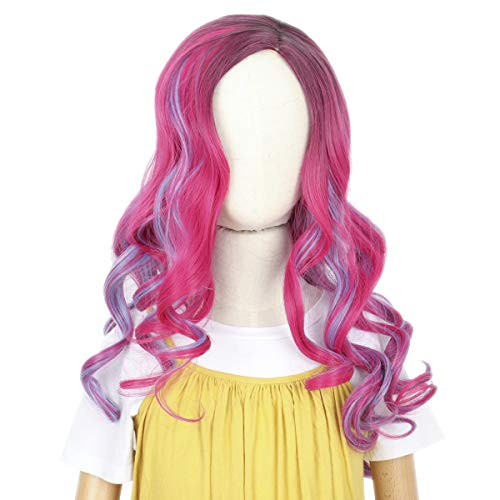 Missuhair Audrey Kids Wig, Long Mixed Pink Hair Replacement Wig...