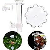 Kaimeilai Fuente de alimentación para acuario, accesorio para comida de gambas, peces, gambas, comedero que se mueve, tubo de alimentación con ventosas, transparente
