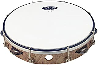 1 row Wood colour Stagg TAB-108P//WD 8 Tuneable plastic Tambourine