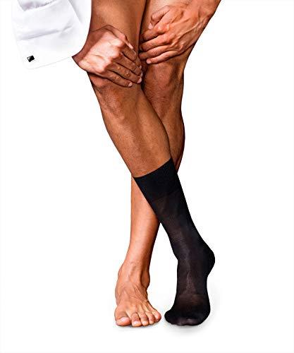 FALKE Herren Socken No. 4, Seide, 1 Paar, Schwarz (Black 3000), 43-44 (UK 8.5-9.5 Ι US 9.5-10.5)