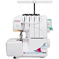 powerful Janome MOD-8933 Built-in Threads, 3 and 4 Thread Convertible with Differential Feed