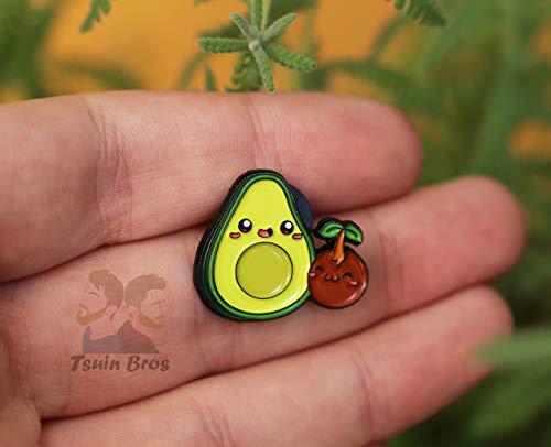 Avocado-Pin. Emaille Pin aus Metall.
