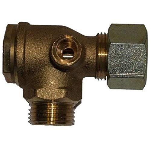 Overdrukventiel ventiel terugslagklep 1/2 inch met 15 mm knelkoppeling