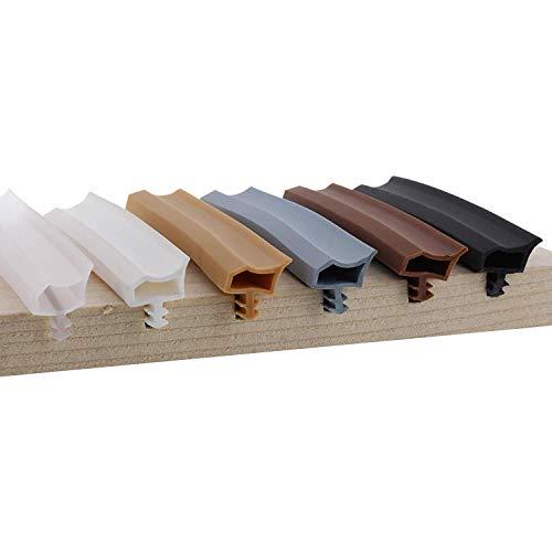 ToniTec Türdichtung Dichtprofil für Holzzargen Zimmertürdichtung 12mm 25m Grau