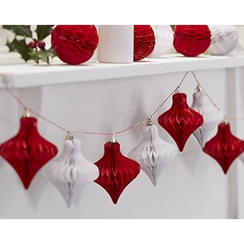Red And White Vintage Christmas Decorations Amazon Co Uk