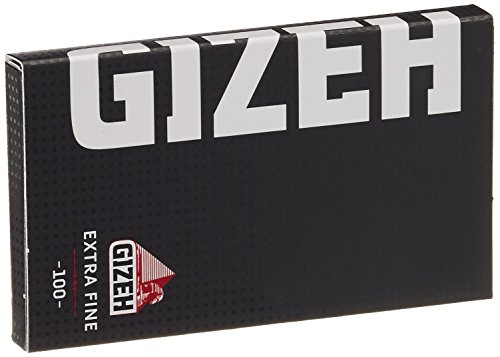 Gizeh 411110046 Original Magnet, Short Black, Cellulose Paper Sheets, 20 booklets x 100 Papers