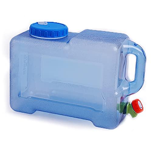 ZHIQ Cubo de Agua Portátil con Grifo, Material de PC Contenedor de Almacenamiento de Agua, Cubo de Exterior para el Hogar, Equipado con Tapón de Grifo/Cepillo de Limpieza/Tubo de Extensión
