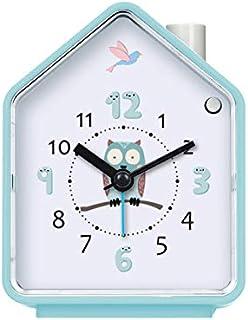 Renfengchui Gök söt väckarklocka med snooze ljus justerbar tyst lysande klocka för barn tecknad sovrum dekoration D