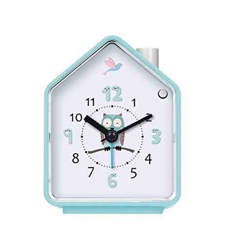 Renfengchui Cuco Lindo Reloj Despertador con luz de Despertador Adjustale Mute Luminous Clock para niños de Dibujos Animados Dormitorio decoración D
