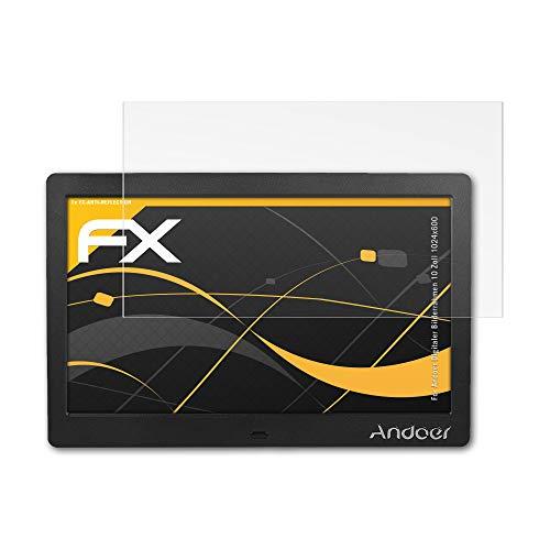 atFolix Panzerfolie kompatibel mit Andoer Digitaler Bilderrahmen 10 Zoll 1024x600 Schutzfolie, entspiegelnde und stoßdämpfende FX Folie