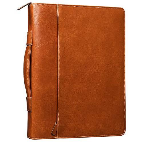 STILORD 'Justus' aktetas leer met handvat MacBook tas 13,3 inch schrijfkoffer conferentie aktetas documenttas met handvat echt leer, Kleur:cognac/bruin