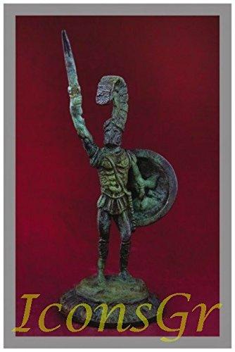 IconsGr Griego Antiguo Bronce Museo Estatua réplica de leónidas Rey de Esparta (1015)