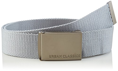 Urban Classics Gürtel Canvas Belt Unisex, grey, one size