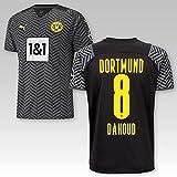 TSH7NDF Dortmund Kinder Trikot Away 2021/22, Größe:152, Spielername:8 Dahoud