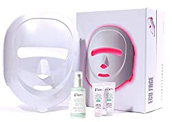 ECO FACE Near-infrared LED Photon Mask for Home Therapy - WHITE | 120 LED lights (60 Near-infrared & 60 Visible) | Electric Facial Skin Rejuvenation | Clinically Tested &Being | Best Korean Skin Care