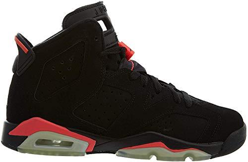 Nike Jungen Air Jordan 6 Retro BG Fitnessschuhe, Schwarz Rot Schwarz Infrarot 23, 38 EU