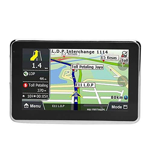 Ymiko Dispositivo de navegación GPS Coche Universal Pantalla táctil de 5 Pulgadas Navegador de Coche Navegación GPS DDR256M 8G MP3 F M Mapa de Europa 508