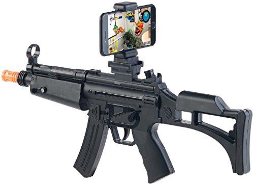 Callstel VR Gewehr: Augmented-Reality-Gewehr, Bluetooth 4.0, Smartphones bis 85 mm Breite (VR-Gewehr für Smartphone)