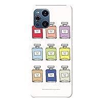 OPPO Find X3 Pro ケース OPG03 ハードケース [薄型/耐熱/全面印刷] Colorful Perfume (ホワイト) オッポ スマホケース スリム CollaBorn Oilshock Designs (オイルショックデザインズ)