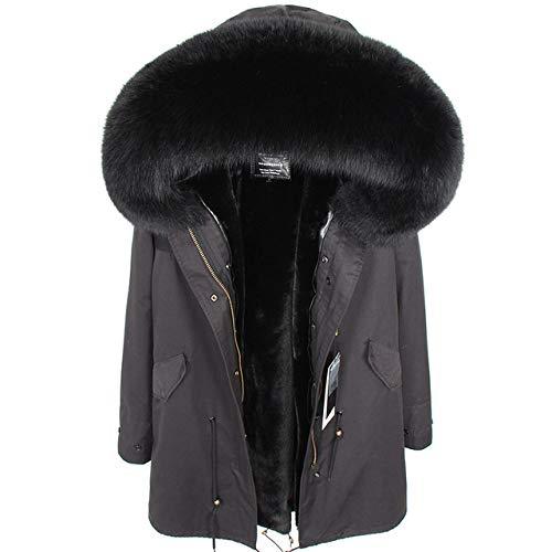 ZYJANO Down jas, Echte winter dameskleding Lange slim fit Plus fluwelen gevoerde voering Parker jas