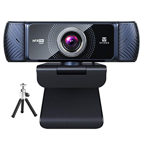 Webcam 1080P 60fps with Microphone for Streaming, Vitade 682H Pro HD USB Computer Web Camera Cam for Gaming Conferencing Mac Windows Desktop PC Laptop (Tripod Included)