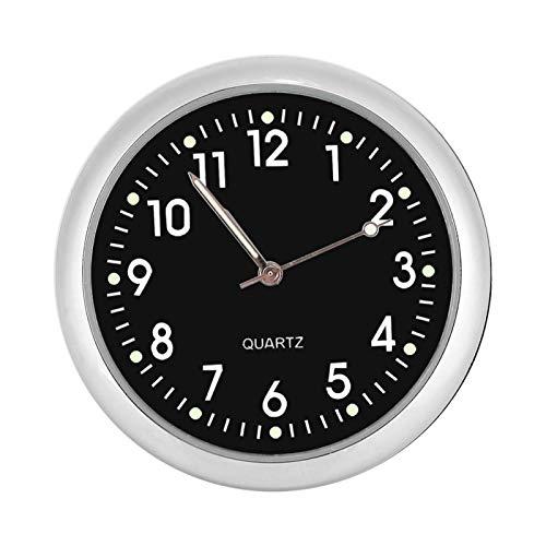 Marvellous Reloj Despertador, Superficie de Espejo de Cristal Relojes de Cuarzo para Coche con luz Nocturna Reloj de Cuarzo para Coche