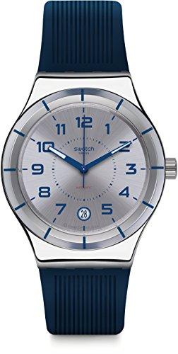 Swatch Orologio Digitale Automatico Uomo con Cinturino in Silicone YIS409